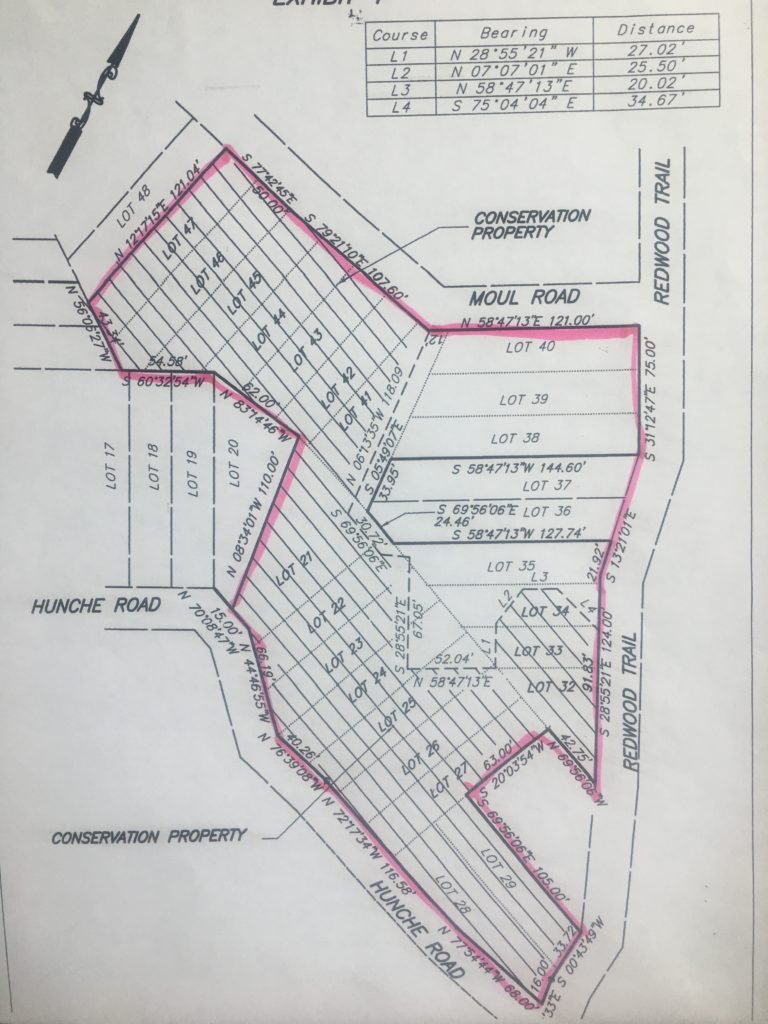 This parcel is a compilation of original lots from the 1920s. This plat map shows several roads which were never built. Access is from Severn Road to Circle Trail. The privacy is unparalleled.